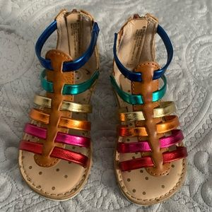 Rainbow sandals for a toddler girl